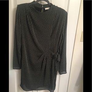 ASTR Large Jolene Black White Wrap Dress